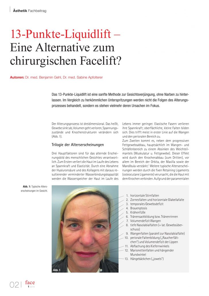 13-Punkte-Liquidlift - Alternative zum Facelift? Dr. Benjamin Gehl the aesthetics Wien